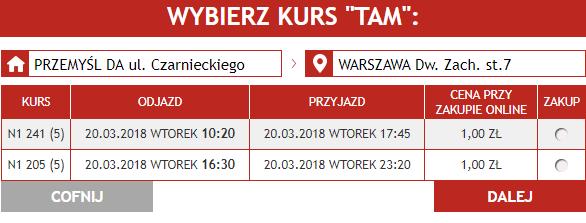 Хит от Neobus: из Перемышля и Медики от 1 злотого в Варшаву и Краков в марте - апреле!