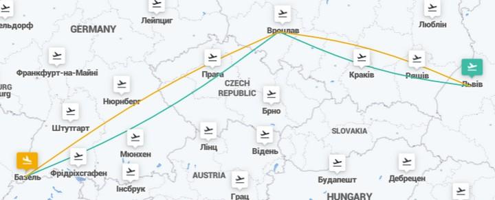 Авиабилеты из Львова в Швейцарию (Базель) через Вроцлав от €70 в две стороны!