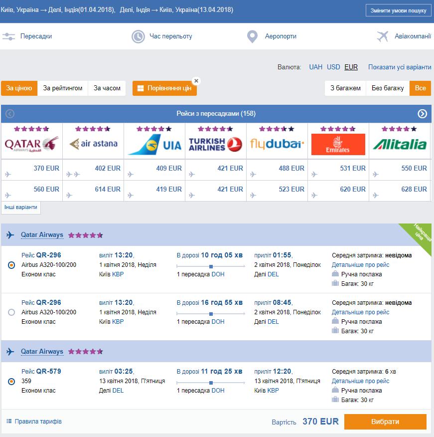 Qatar Airways: распродажа из Киева на рейсы в Азию! Билеты от €370 в две стороны!