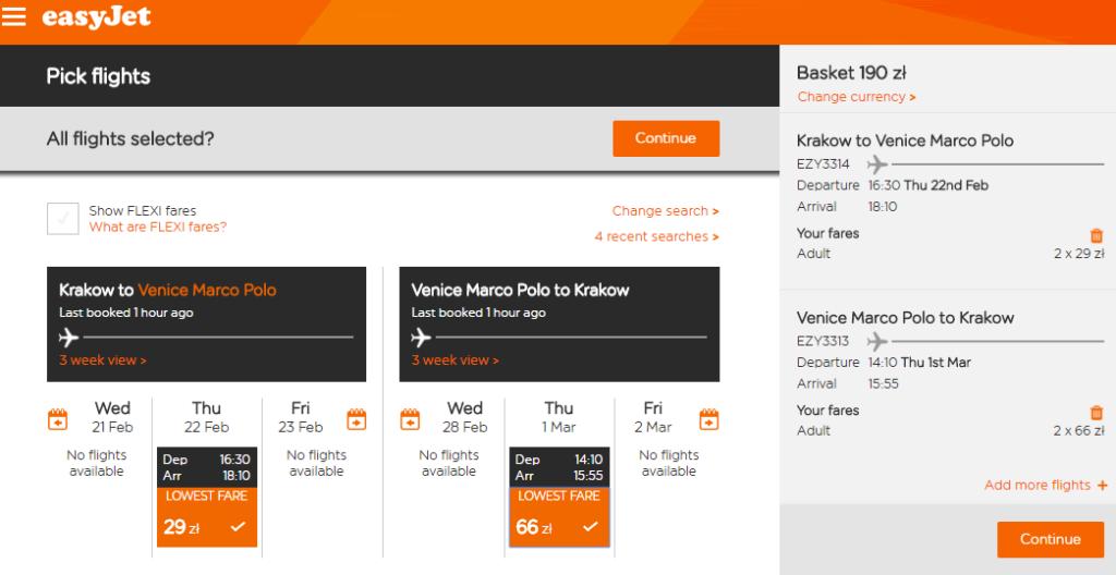 easyJet: Люблин - Милан и Краков - Венеция от €22 в две стороны! Скидка 30% на авиабилеты! -