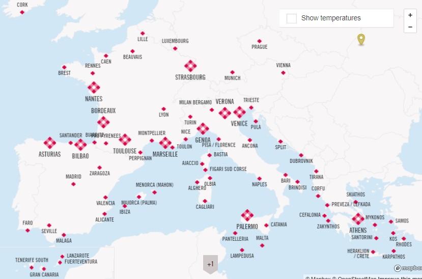 карта volotea