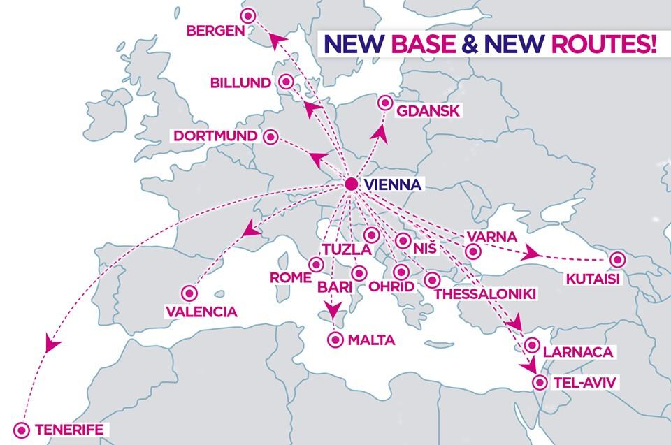 Wizz Air открывает 17 новых рейсов из Вены! -