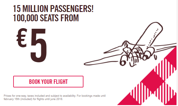 Volotea продает 100000 авиабилетов по Европе от 5€! -
