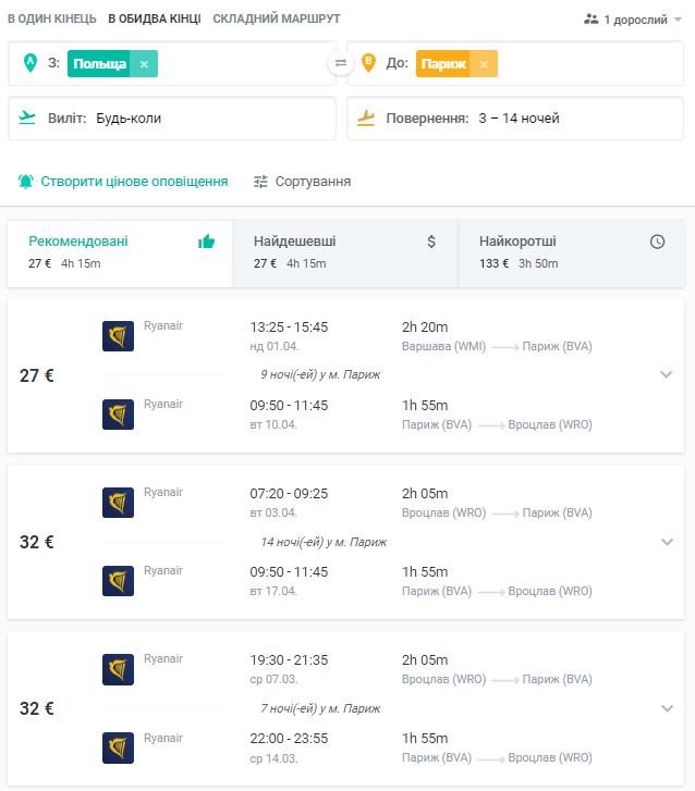 Дешевые авиабилеты из Польши в Париж от €27 в две стороны! -