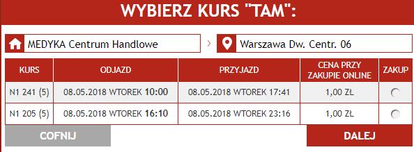 Супер акция Neobus! Билеты с Медики и Перемышля от 1 злотого в Варшаву и Краков на май! -