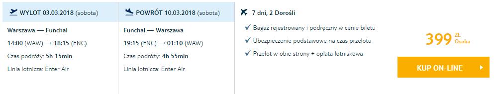 Авиабилеты на Мадейру из Польши за €95 в две стороны! -