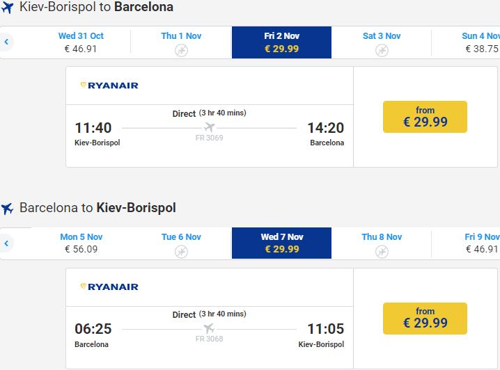 квитки Ryanair