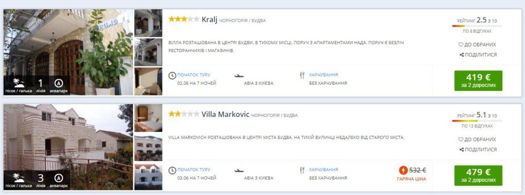 Туры в Черногорию на 7 ночей от €208 с человека! -