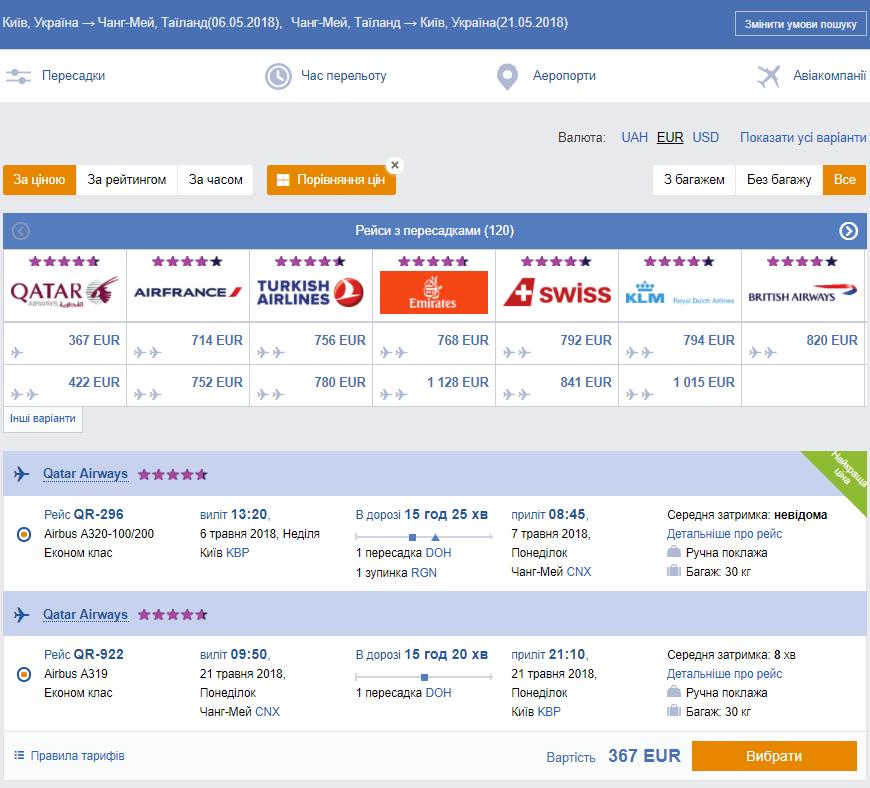 Распродажа Qatar Airways на 48 часов: Таиланд, Шри-Ланка, Китай и другие направления от €367 в две стороны! -