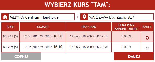 Хит от Neobus: билеты с Медики и Перемышля от 1 злотого в Варшаву и Краков на июнь! -