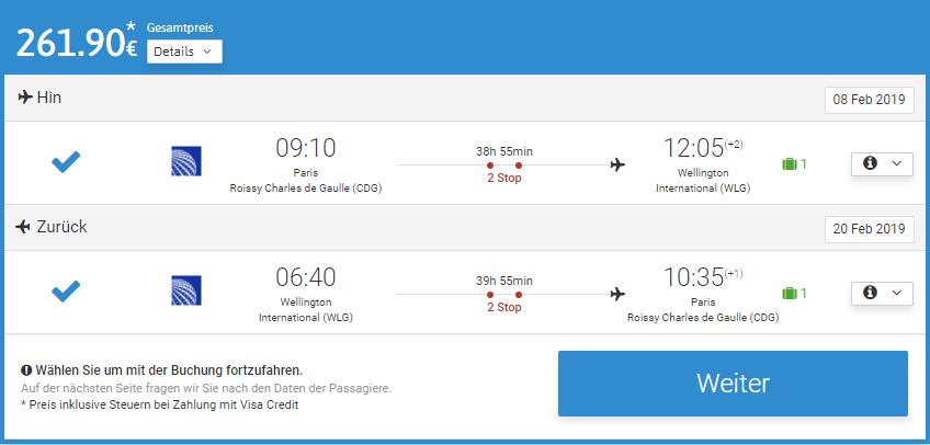 Невероятно! Авиабилеты в Новую Зеландию из Парижа от €262 в две стороны! -