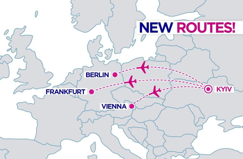 Wizz Air объявил об открытии новых рейсов из Украины в Берлин, Вену и Франкфурт! -