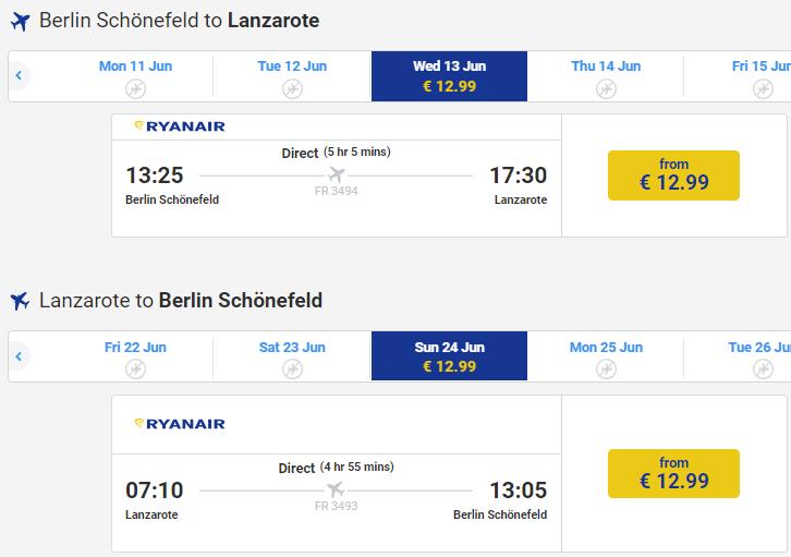 Хит! Авиабилеты на Канары из Берлина за €26 в две стороны, с Кракова за €44 в две стороны! -
