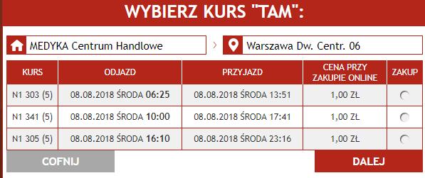 Neobus: билеты в Варшаву и Краков из Перемышля и Медики от 1 злотого в августе! -