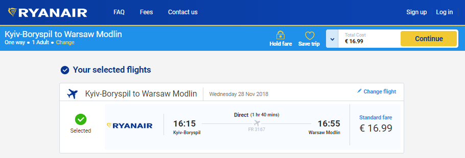 Акційні рейси Ryanair зі Львова. Авіаквитки на рейс Київ – Варшава від  €16 901c89065c5bf