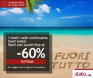 Акция от Italo: железнодорожные билеты по Италии со скидкой до 60%! -