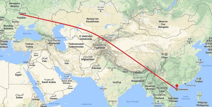 карта хайнань