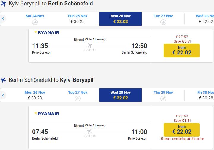 Ryanair  знижка 10% на мільйон авіаквитків! З України від €9 a8acac0d80525