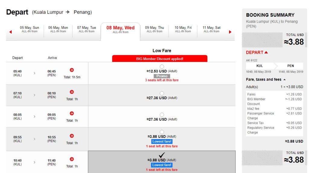 AirAsia Big Sale: распродажа авиабилетов от $4 в одну сторону! -