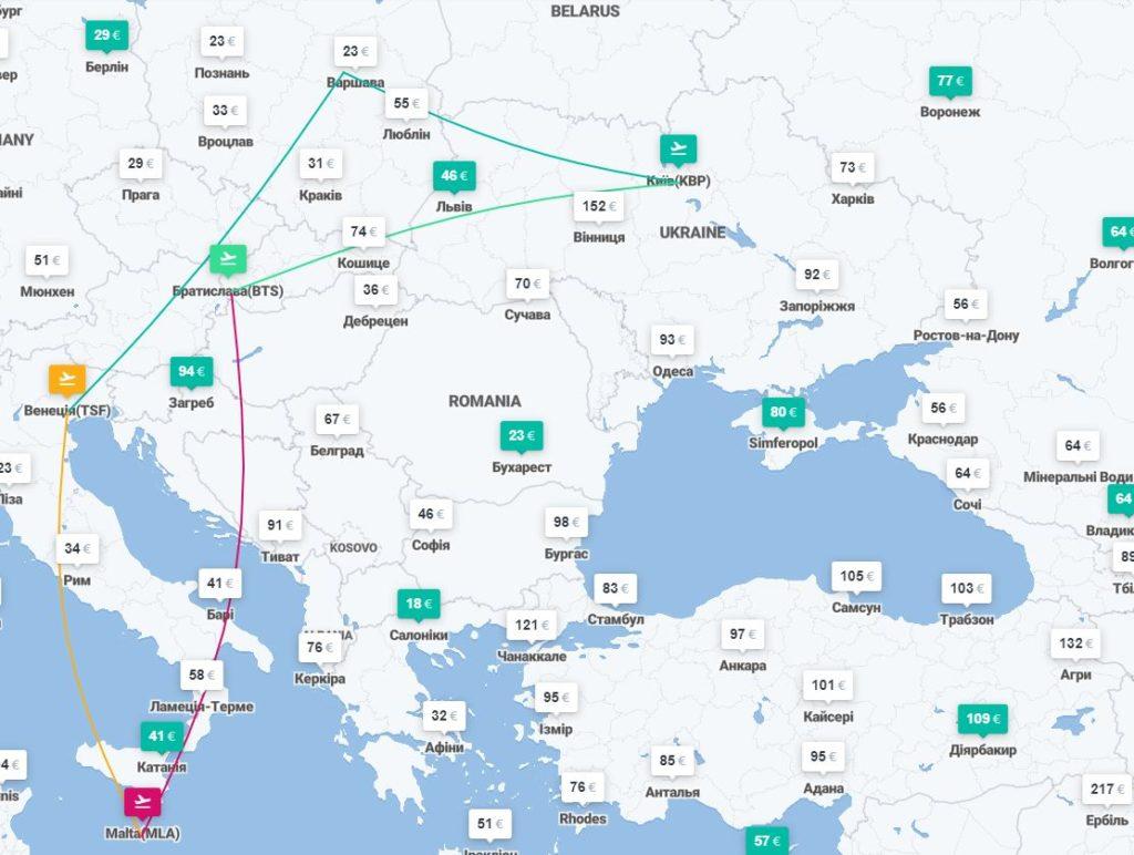 Киев – Венеция – Мальта – Киев – авиабилеты от €73! -
