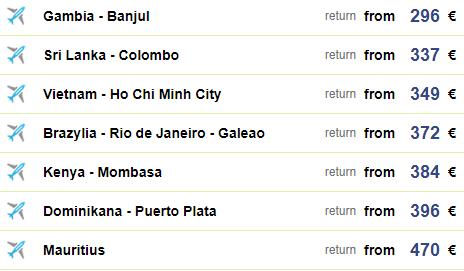 Прямые дешевые рейсы из Варшавы в Доминикану, Бразилию, Шри-Ланку, Вьетнам от €300 до €400 в две стороны! -