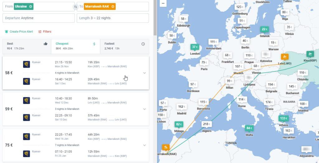 Авиабилеты из Украины в Марокко от €61 в две стороны! -