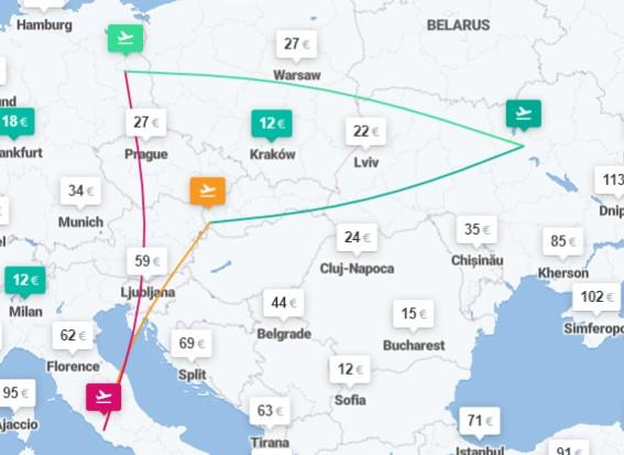Киев – Братислава – Рим – Берлин – Киев – 4 авиабилеты от €79! -