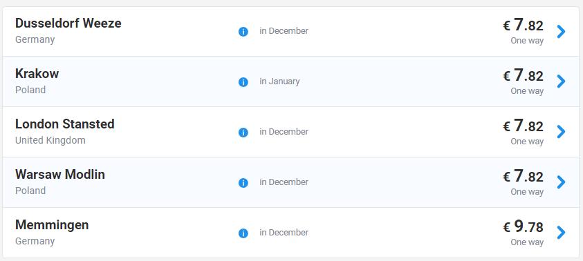 Рекордные цены Ryanair из Украины! Авиабилеты от €7,9 на 11 направлений! -