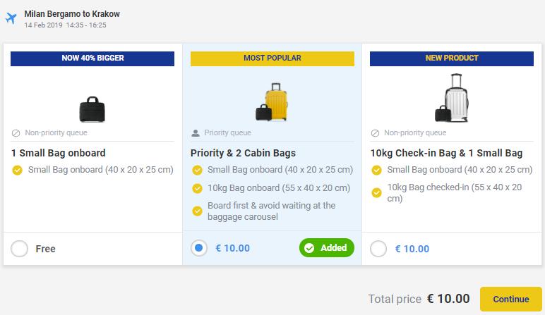 "Ryanair увеличил оплату за ""Priority"" и за перевозку малого регистрируемого багажа (до 10 кг)! -"