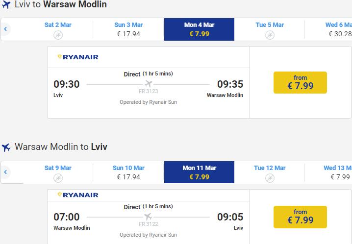 авіаквитки Ryanair