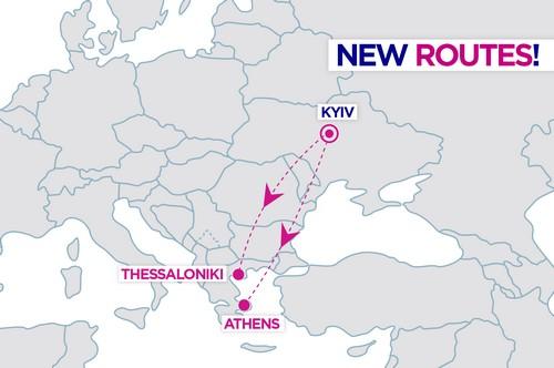 Киев - Афины и Киев - Салоники - два новые рейсы от Wizz Air! -