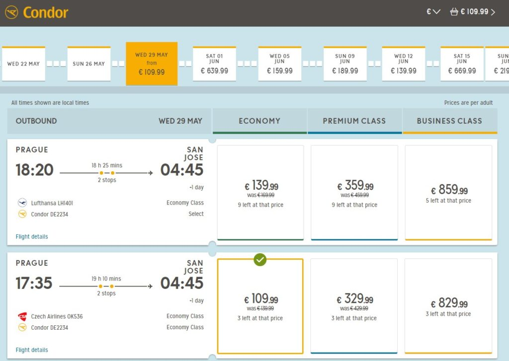Авиабилеты из Праги в Коста-Рику от €109 в одну сторону! Из Франкфурта - от €359 в две стороны! -