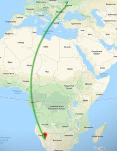 Авиабилеты из Украины в Намибию (Африка) от €450 в две стороны в июне! -