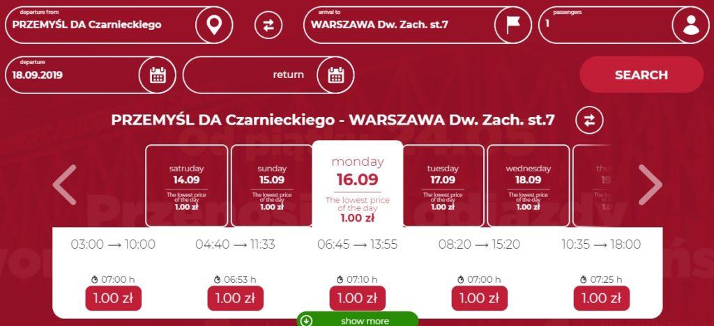 Дешевые автобусные билеты по Польше от 1 злотого на сентябрь! Из Перемышля ли Медики в Варшаву и Краков! -