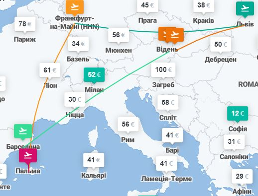 Барселона и Майорка из Львова - от €80 за 5 авиабилетов! -