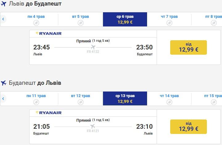 Новый рейс Ryanair из Львова в Будапешт! Билеты от €13 уже в продаже! -