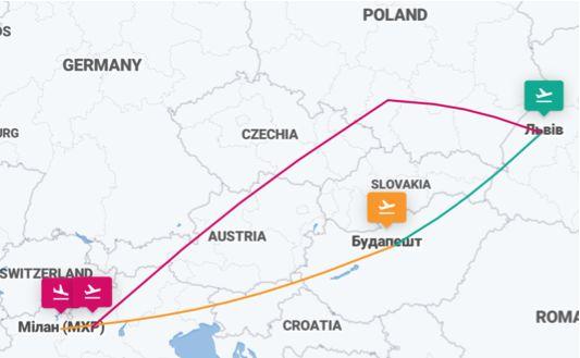 Львов - Милан - Будапешт - Львов - 4 авиабилеты от €62! -