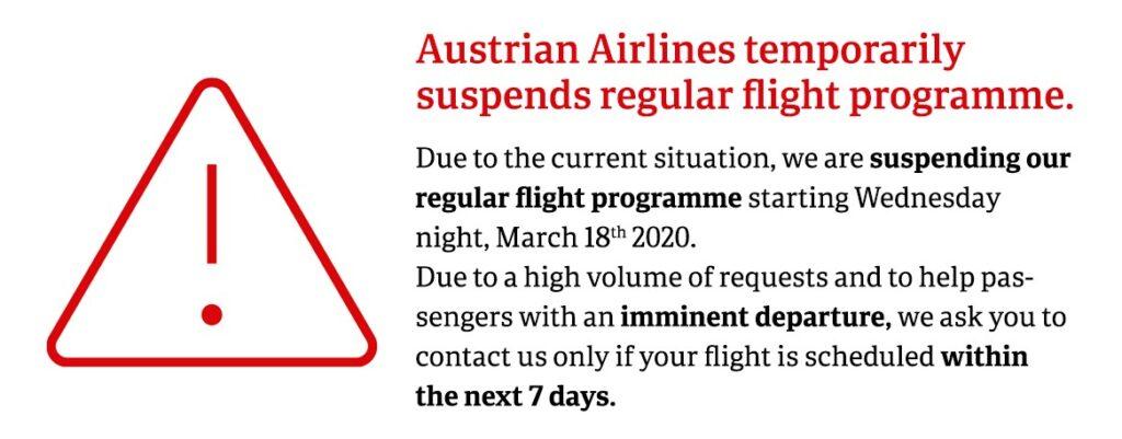 Lauda и Austrian Airlines приостанавливают все рейсы! -