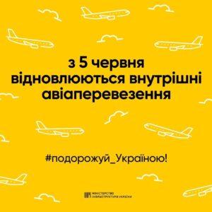 Украина возобновит внутренние авиарейсы с 5 июня! -