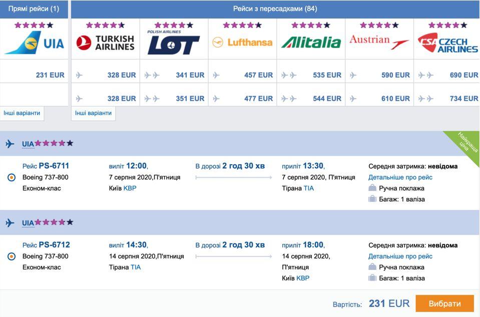 Новые рейсы от МАУ в Тиват, Тирану, Сплит и Бургас! -