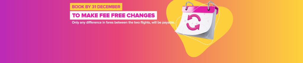 Pegasus предлагает бесплатную зминy дать для билетов приобретенных до 31 декабря! -