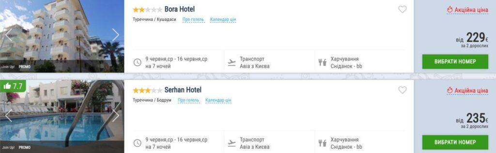 Туры в Турцию на Эгейское побережье из городов Украины от € 114 с человека! -